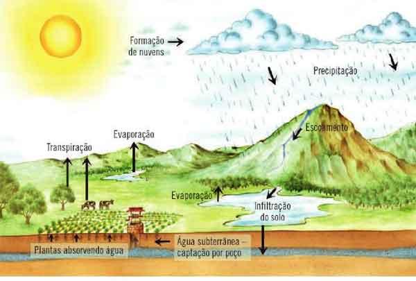 Ciclo da água na natureza - fases e processos do ciclo da água