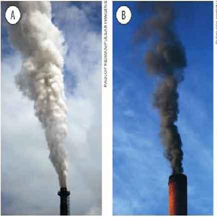 chaminés fumaça