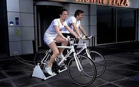 bicicleta que gera eletricidade