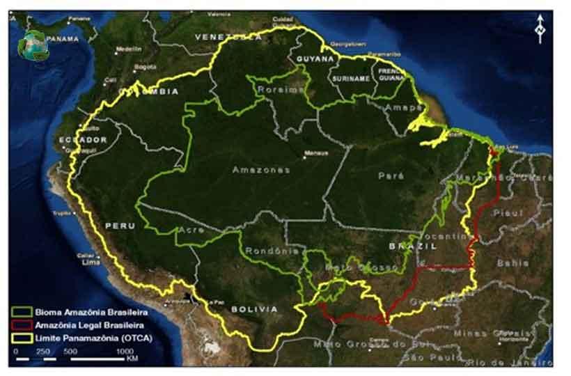 Acre, Amapá, Amazonas, Mato Grosso, Pará, Rondônia, Roraima e Tocantins