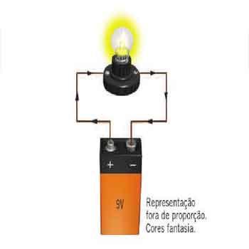 ddp da bateria é aplicada sobre uma única lâmpada